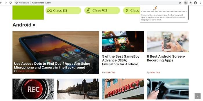 Chrome Web One Click Full Page Screenshot 1