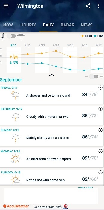 Top Dark Sky Alternatives For Android Accuweather