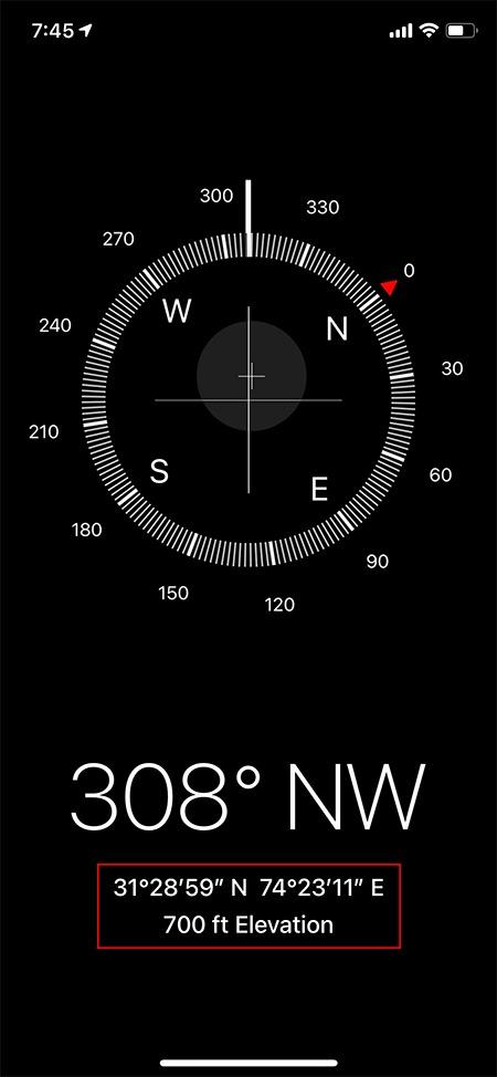 Höhenmesser Apps Kompass