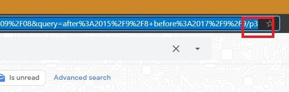 Sortieren von Google Mail-Filtern Daterange-Seitenzahl
