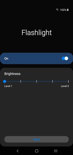 Schalten Sie die Taschenlampe ein aus Android Galaxy 1