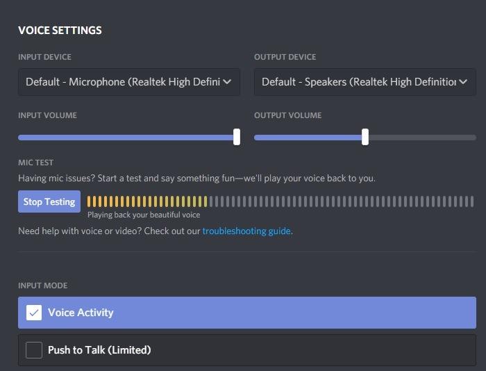 Discord Screenshare Mic Testing
