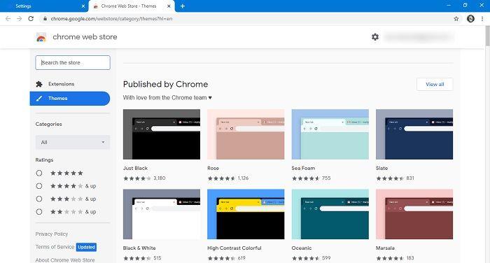 So ändern Sie die Google-Suche Wählen Sie das Thema Chrome aus