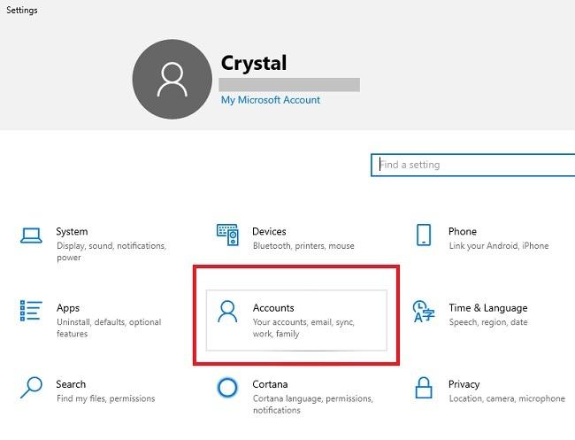 So richten Sie Sicherheitsfunktionen der Microsoft-Familie in Windows 10-Konten ein