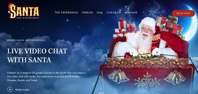 Wie Kinder mit Santa Experience Video-Chat können