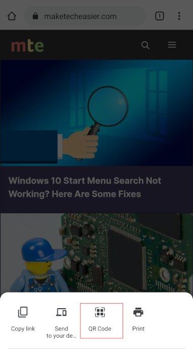 Qr-Code Chrome Chrome Qr-Code teilen