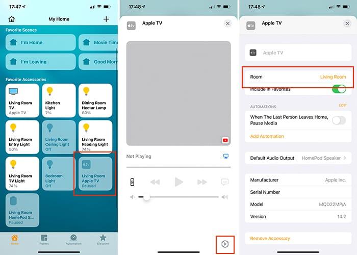 Einrichten von Heimkino-Audio Apple Tv Homepod Home App Iphone
