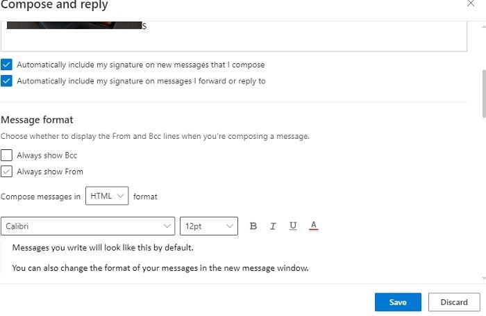 Outlook-Signatur automatisch einschließen