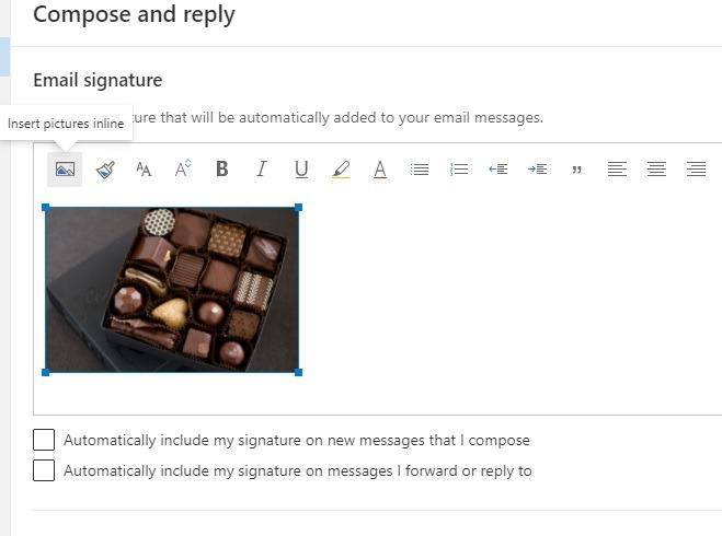 Outlook-Signatur Bilder online einfügen