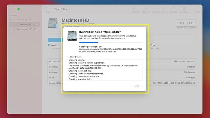 Festplattenberechtigungen Macos Disk Utility In Bearbeitung