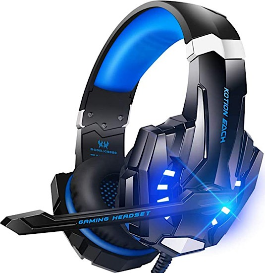 Deal Bengoo Gaming Headset Blau