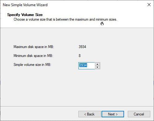 Formatieren von USB-Laufwerken in Win10 Diskman Simple Volume Wizard Size