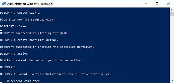 Formatieren Sie USB-Laufwerke im Win10 Diskpart-Format