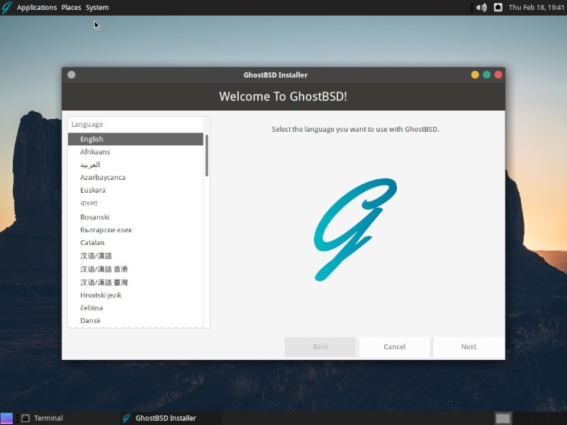 Ghostbsd Review Installer 1