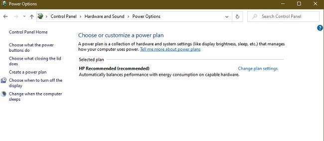 So beheben Sie den Fehler beim Ausfall des Treibers in den Energieeinstellungen von Windows 10