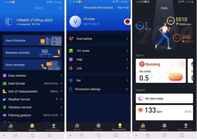 Virmee Tempo Vt3 Plus Smart Watch Test-App