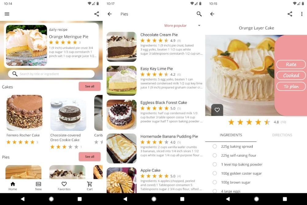 Kuchen Backen und Rezepte App