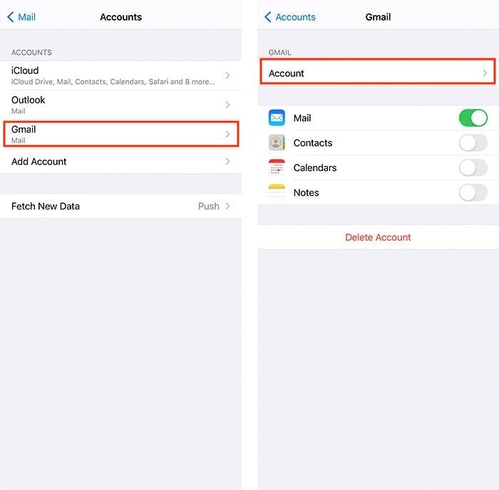 Löschen statt Archivieren Sie die Google Mail-App-Einstellungen für das iPhone