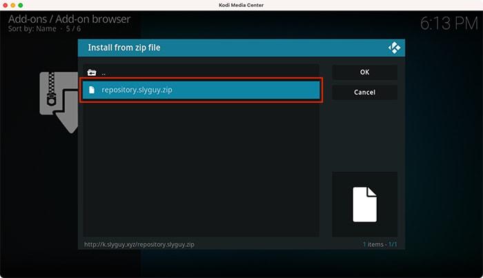 Disney Plus Kodi Installieren des Slyguy-Repositorys