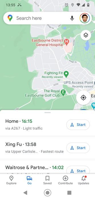 Route speichern Google Maps angeheftete Route