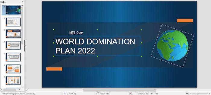 Slideuplift World Domination Title