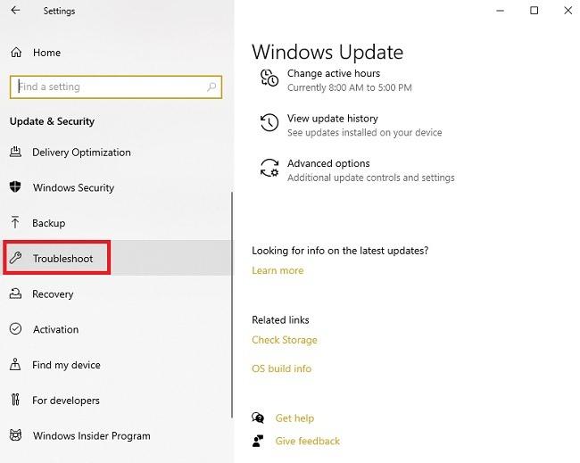 Fehlerbehebung bei Problemen mit der Installation von Windows 10 Update Fehlerbehebung