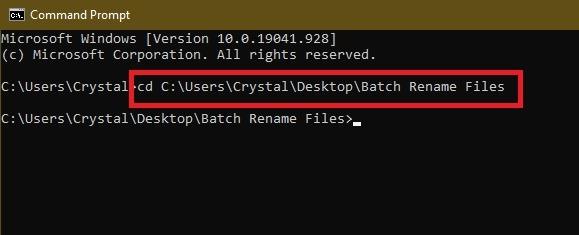 3 Möglichkeiten zum Batch-Umbenennen von Dateien in Windows Explorer Cmd Cd
