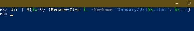 3 Möglichkeiten zum Batch-Umbenennen von Dateien im Windows Explorer Powershell-Umbenennen Schließen