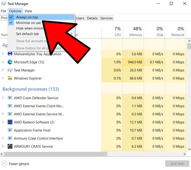 Beheben Sie, dass Windows-Anwendungen nicht immer im Vordergrund stehen