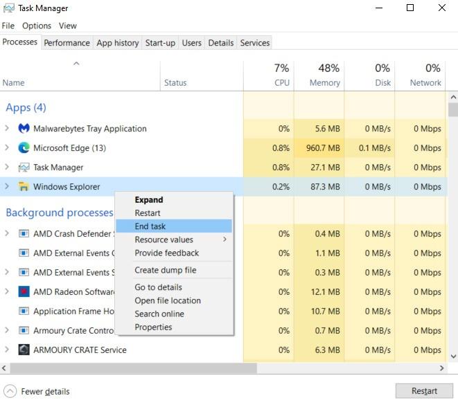 Korrigieren Sie Windows-Anwendungen, die nicht auf die Endaufgabe antworten
