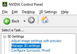 Nvidia und Amd Anti Lag Nvidia Schritt 1