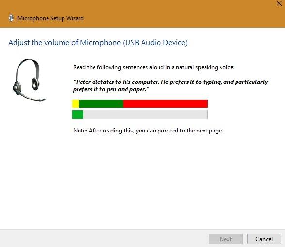 Externes Mikrofon Windows-Mikrofon-Lautstärkeeinstellung