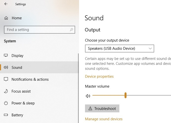 Externes Mikrofon Windows-Sound in den Einstellungen