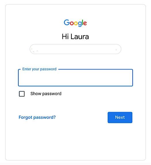 Google 2sv-Konto