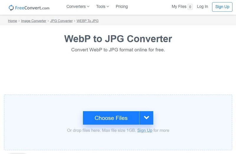 Freeconvert Webp in Jpg konvertieren