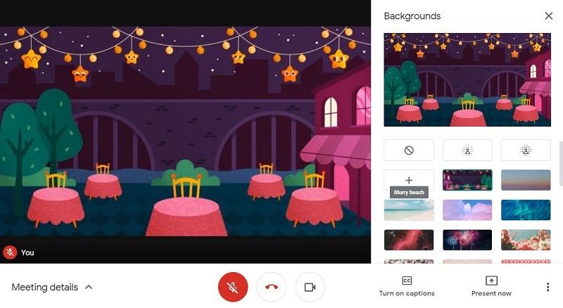 Google Meet-Hintergrund