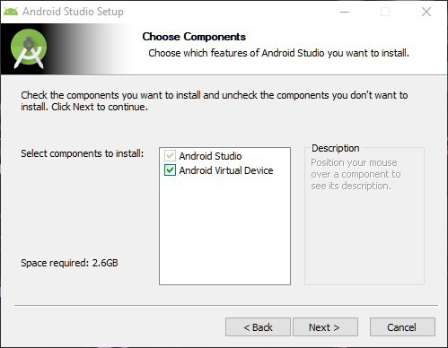 Installieren Sie das Android Studio SDK Windows 10-Installationsprogramm