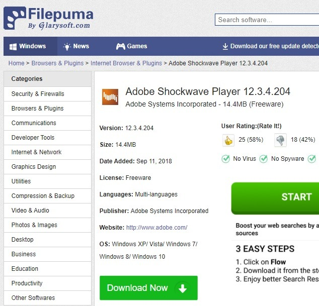 Sichere Download-Sites Filepuma