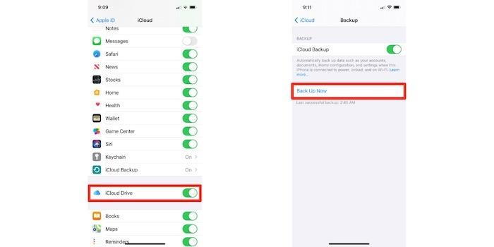 iOS-Einstellungen für Mobilfunkdaten reparieren Icloud Backup