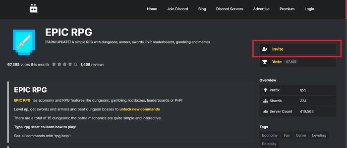 So fügen Sie Bots zu Ihrem Discord-Server hinzu Epic