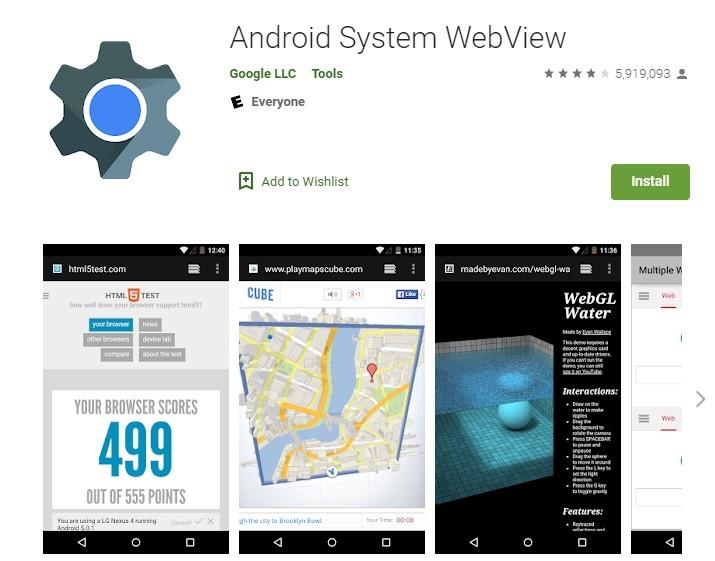Was ist Android System Webview und sollten Sie es deinstallieren Play Store?