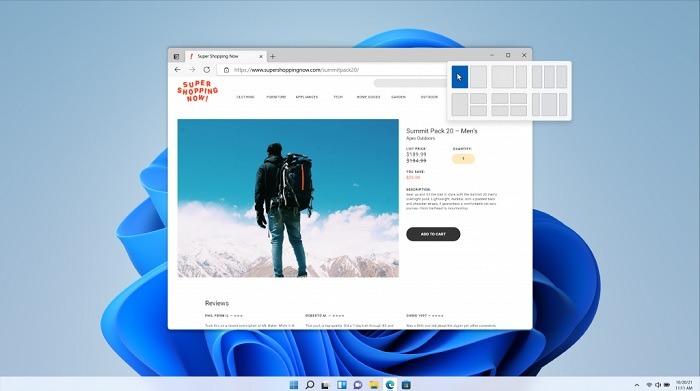 Windows11 Snap Snap-Layouts