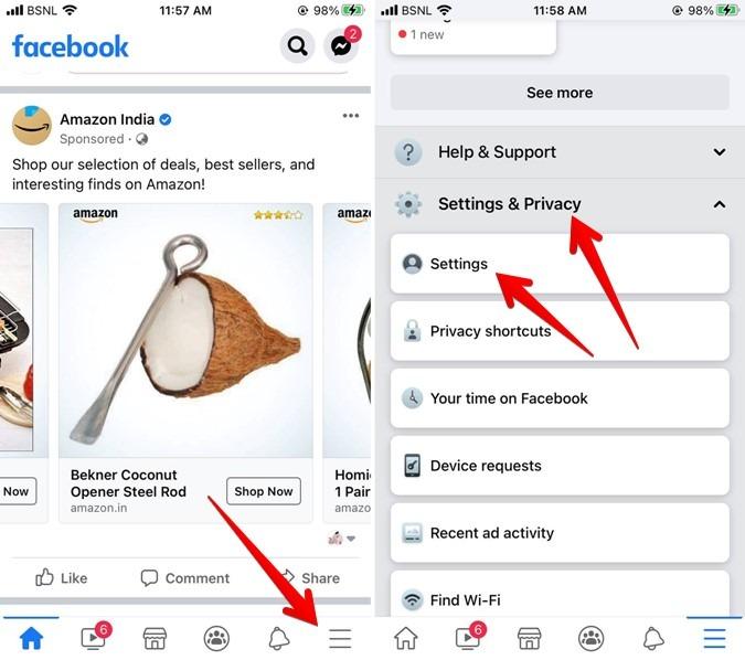 Facebook-iPhone-Einstellungen