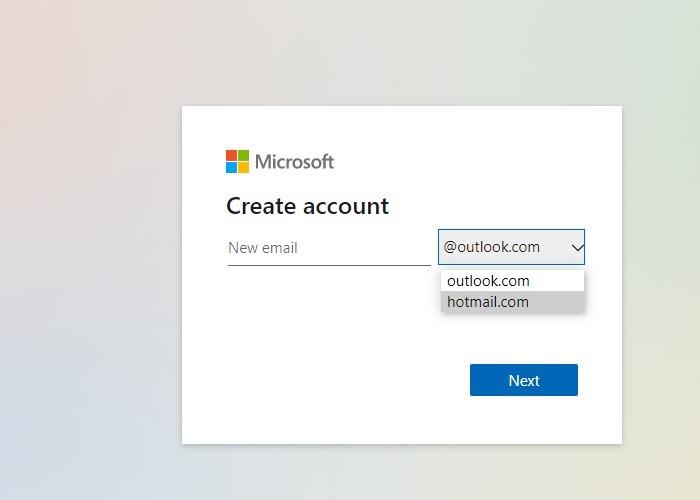 Hotmail Outlook umbenennen Konto erstellen