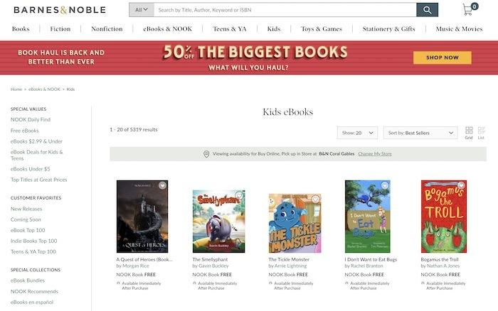Kostenlose Websites E-Books herunterladen Barnes Noble Kids