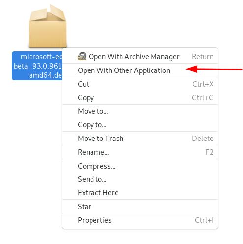 Mit anderer App öffnen