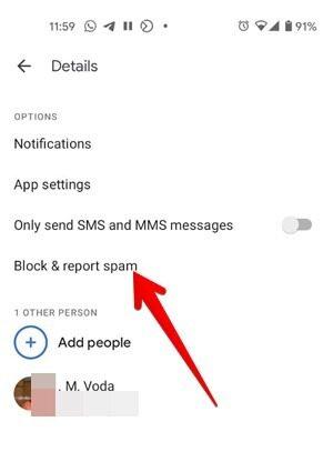 Anzahl Android-Nachrichten blockieren