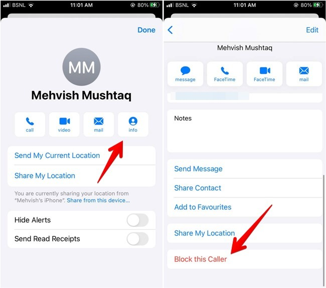 Iphone-Kontaktnachrichten blockieren