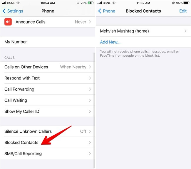 Iphone blockieren Blockierte Kontakte anzeigen