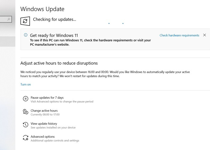 Windows11 Rollback für Windows10 PC nach Updates suchen